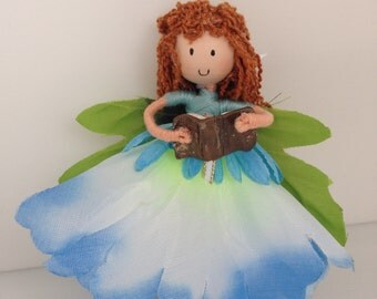Periwinkle Blush Flower Fairy Doll