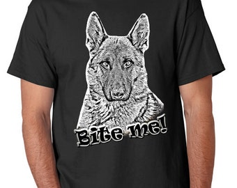 One of our favorite designs; say it with an attitue! BITE ME shirts sized for MEN!