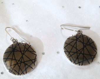 Abstract Disc Earrings