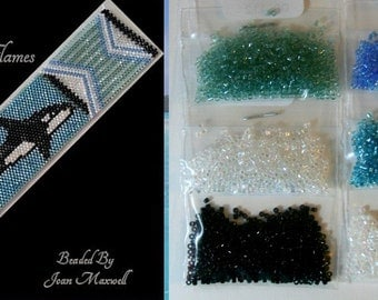 Vanishing Herds - Orca by Out of the Flames beaded bracelet kit (pattern sold separately)