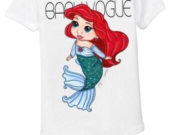 The Little Mermaid Ariel baby girl onesie