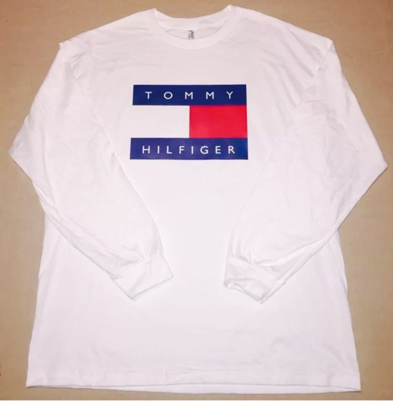 tommy hilfiger logo long sleeve t shirt by cool2theidea on. Black Bedroom Furniture Sets. Home Design Ideas