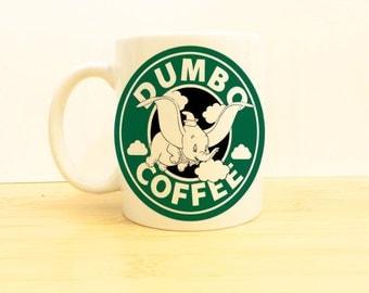 Dumbo Coffee Mug 11 oz -Disney Flying Elephant Starbucks - Ceramic Tea Cup