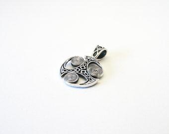 Triskele Triskilian pendant-Celtic Silver 925