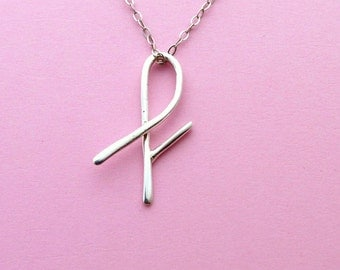 Sterling Silver Letter F Pendant