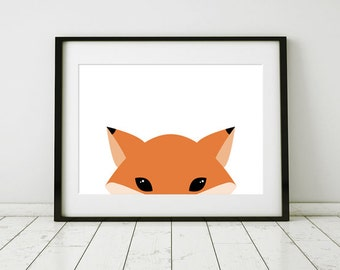 Fox Wall Art red fox art | etsy