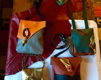 Unique Leather bags. One of a kind.