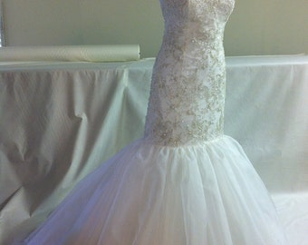 French Hand-Beaded Sweetheart Gown
