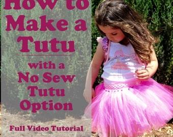 How to Make a Tutu With a No Sew Tutu Option - PDF Instructions