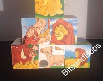 The lion king nursery blocks