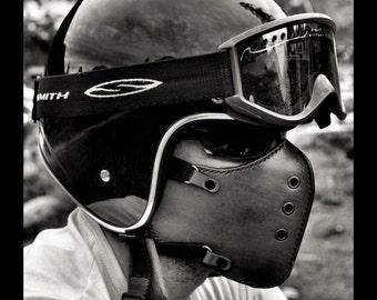 Masque moto Classic Brown/motorcycle mask/ leather mask/cafe racer mask/bobber mask/bratstyle mask/leather mask/vintage mask/Boken.