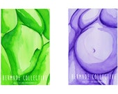 Rainbow Nudes - Set of 6 watercolour prints A5 size - fat positive body positive bodyposi activist activism feminist feminism