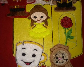 Yellow Rose Princess. Beauty and the Beast inspired finger puppets
