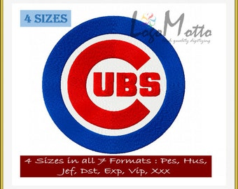 CHICAGO CUBS EMBROIDERY designs Mlb Baseball logos