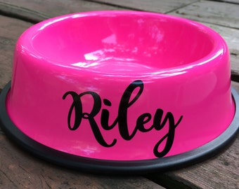 Personalized Pink Dog Bowl - Custom Dog Bowls - Personalized Dog Bowl - Dog Dish - Personalize Dog Bowl - Dog Food Bowl - Dog Bowl with Name