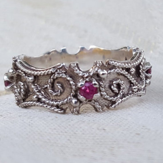 Italian Bands: Italian Renaissance Wedding Bands Sterling Silver With Genuine
