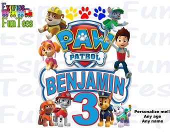 Paw Patrol Inspired Iron On Paw Patrol Personalized Iron On Transfer Shirt Paw Patrol