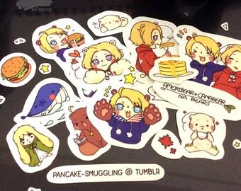 sticker set: NA Bears