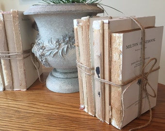 French Country Decor, Farmhouse Decor, Shabby Chic, Country Decor, French Country, Rustic Decor, Modern Farmhouse, Twine, Distressed Books