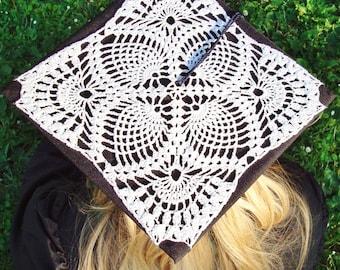 Crochet Lace Graduation Cap Decoration