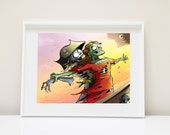 Titanic Zombie Love ( Funny Zombie Zombie Art The Walking Dead Cute Zombie Zombie Love Valentines Day Card I Love you Card Funny Valentine)