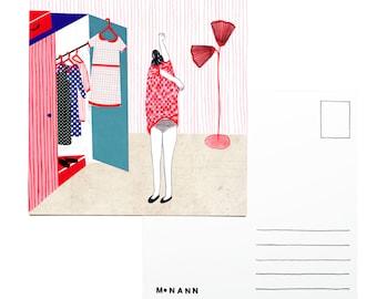 Illustration postcard - Getting ready