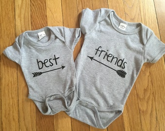 Best Friends Bodysuit or TShirt - Best Friends Tee - Toddler Shirt - Baby Bodysuits - Baby Shirt - Friends Shirt - Friends Tee - Baby Friend