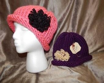 Modern winter hats.