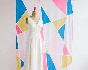Ombre fabric wedding backdrop