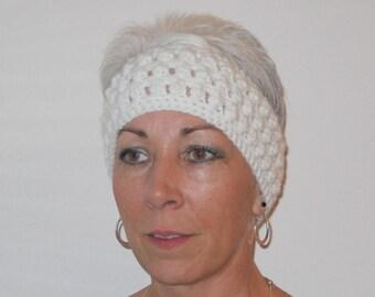 Crocheted Popcorn Textured Headband Pattern (HB310)