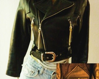 Michael Hoban NORTH BEACH LEATHER Women's Detailed Motorcycle Jacket Size 5/6