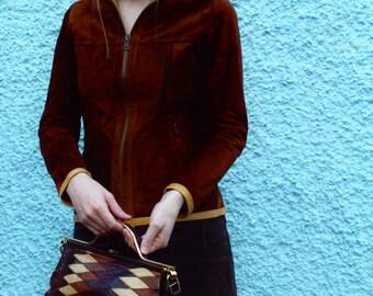 Amazing 1970's reversible Leather/suede mod jacket