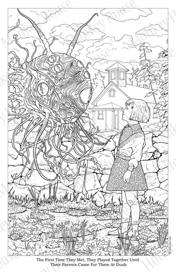 coloring pages of a | Sci-fi Coloring Page Encounter at the