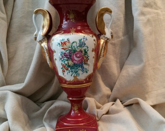 Antique French porcelain vase Porcelaine de Couleuvre edidion d Art