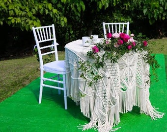 Handwoven Macrame Table Cloth, Handmade Wedding Table Runner, Wholesale Wedding Table Cloth, Rustic Wedding Decor, Wedding Table Decoration