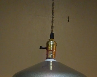 Vintage REWIRED Steber Hanging Industrial Pendant Lamp Light Steampunk Shade