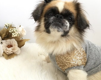 Dog clothes, dog shirt, puppy sweater, dog sweater, Dog dress, dog clothes, puppy clothes, Zoe
