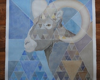 "Original ""Pascal's Ram"" Watercolor Painting"