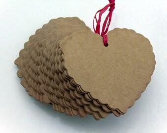 Heart Kraft Paper Tags #EP4