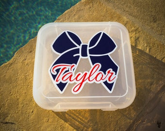 Cheer / Hair Bow Travel Case (personalized) - Design Options
