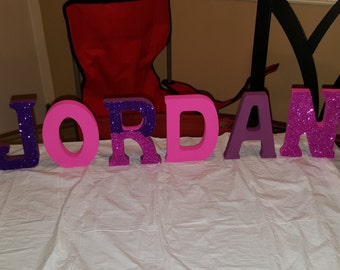 20% off sale Custom Made Wood letters: Free standing name