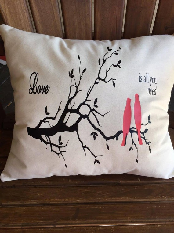 Decorative Canvas Throw Pillow vinyl design home decor