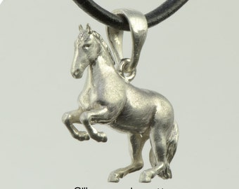 Trailer • horse • Levade • silver • solid & 3D • L