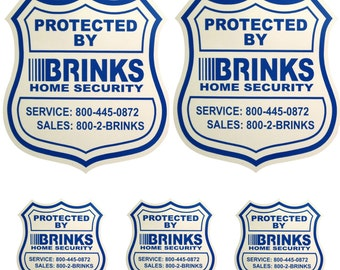 2 Security Yard Signs with 3 Security stickers decals Free Shipping