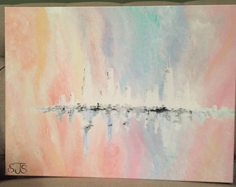 Chicago Skyline Abstract Painting