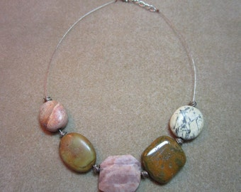 Chunky Gemstone Statement Necklace