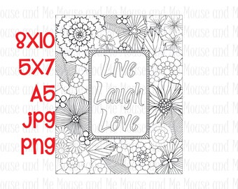 Love quote coloring Etsy