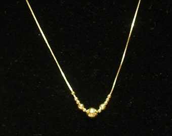 14k Gold Ball Chain