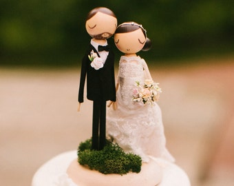 Wedding Cake Topper Rustic Wooden