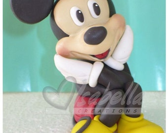 Mickey mouse cake topper cold porcelain / Center of cake